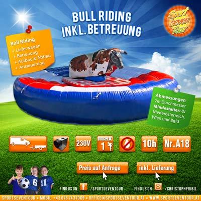 Bull Riding Rodeo reiten mieten