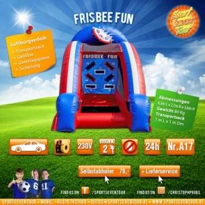 aufblasbares Spiel Frisbee Fun mieten