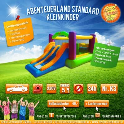 Hüpfburg Abenteuerland Standard Kleinkinder mieten