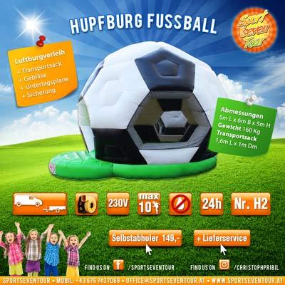 Hüpfburg Fussball mieten