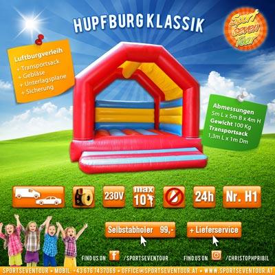Hüpfburg mieten Model Klassik