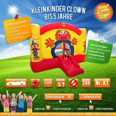 Kleinkinder Hüpfburg Clown mieten