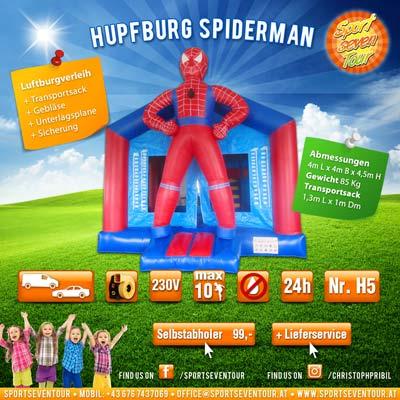 Hüpfburg Spiderman mieten