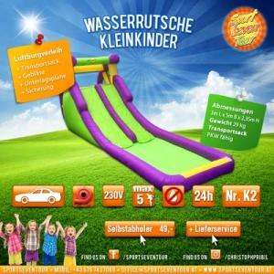 Hüpfburg Wasserrutsche Kleinkinder mieten